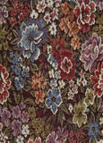 Floral Fabric. A high resolution scan of a floral fabric royalty free stock photos