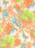 Floral fabric. Close up of a floral textile. Perfect for canvas Royalty Free Stock Images