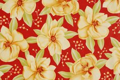Floral fabric background Stock Photo
