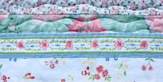 Floral fabric background Royalty Free Stock Images