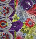Floral fabric Stock Photos