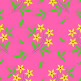 Floral fabric pattern stock illustration
