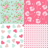 Floral fabric pattern Stock Photography
