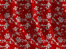 Floral fabric texture Royalty Free Stock Photo