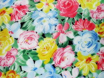 Floral fabric  texture Stock Image