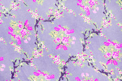 Floral fabric texture background Stock Photography