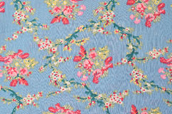 Floral fabric texture Royalty Free Stock Images