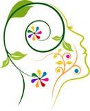 Floral face logo design Stock Photo