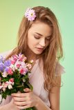 Floral fairy Stock Image