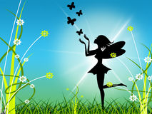 Floral Fairy Indicates Animal Bouquet And Sunlight Royalty Free Stock Photography