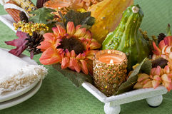 Floral Fall Harvest Centerpiece Royalty Free Stock Photo