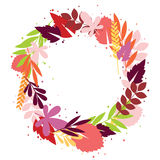 Floral fall wreath Stock Photo