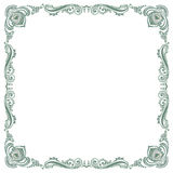 Floral fancy vintage pattern frame Stock Photography