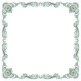 Floral fancy vintage pattern frame Stock Photography