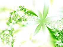 Floral fantasy. Garland of green flowers Stock Photography