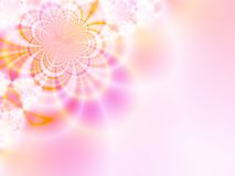 Floral fantasy. Pink floral background. Fractal illustration Stock Images