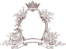 Floral Fantasy Emblem Stock Photos
