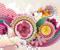 Floral fantasy  illustration Stock Photography