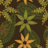 Floral fantasy  seamless pattern Stock Images