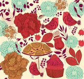 Floral fashion background stock illustration