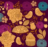 Floral fashion background Stock Images