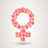 Floral female symbol for International Womens Day celebration. Royalty Free Stock Photos