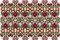Floral fence like pattern Royalty Free Stock Photos