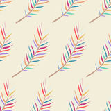 Floral fern seamless pattern. Royalty Free Stock Photography