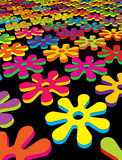 Floral field. Abstract geometric endless colorful floral field Royalty Free Stock Photo