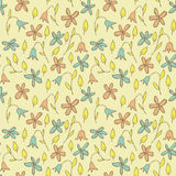 Floral Field Seamless Pattern. (repetitive) on beige background. Illustration is in eps8  mode Stock Photography