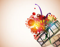 Floral filmstrip background Royalty Free Stock Photos