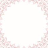 Floral Fine Frame. Classic frame with arabesques and orient elements. Abstract fine light pink ornament Royalty Free Stock Images