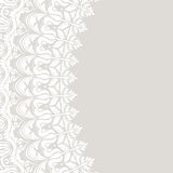 Floral Fine Frame. Classic frame with arabesques and orient elements. Abstract fine ornament with place for text. Light gray and white pattern Royalty Free Stock Images