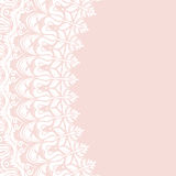 Floral  Fine Frame. Classic  frame with arabesques and orient elements. Abstract fine pink and white ornament Royalty Free Stock Photos