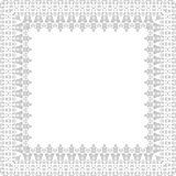 Floral  Fine Frame. Classic  frame with arabesques and oriental silver elements. Abstract ornament Stock Photos