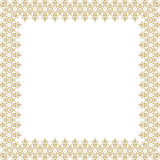 Floral Fine Frame. Classic square frame with arabesques and orient elements. Abstract fine ornament with place for text Stock Images
