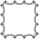 Floral Fine Frame. Classic square frame with arabesques and orient elements. Abstract fine ornament with place for text Royalty Free Stock Image