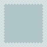Floral Fine Frame. Classic square frame with arabesques and orient elements. Abstract fine ornament with place for text. Light blue and white pattern Stock Photos