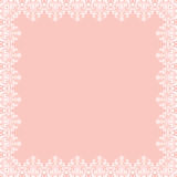 Floral Fine Frame. Classic square frame with arabesques and orient elements. Abstract fine ornament with place for text. Pink and white pattern Royalty Free Stock Images