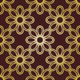 Floral Fine Seamless Pattern. Floral golden ornament. Seamless abstract classic pattern with flowers Stock Image