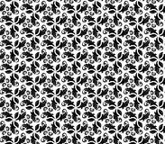 Floral Fine Seamless Pattern. Floral ornament. Seamless abstract background with black and white pattern Stock Photo