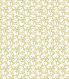 Floral Fine Seamless Pattern. Floral ornament. Seamless abstract background with fine golden pattern Stock Image