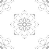Floral Fine Seamless Pattern. Floral ornament. Seamless abstract background with silver pattern Stock Images
