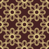 Floral Fine Seamless Pattern. Floral ornament. Seamless abstract classic pattern with flowers. Brown and golden pattern Stock Image