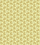 Floral Fine Seamless Pattern. Floral ornament. Seamless abstract classic fine golden pattern Stock Image