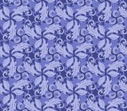 Floral Fine Seamless Vector Pattern. Floral vector blue ornament. Seamless abstract background with fine pattern Stock Images