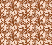 Floral Fine Seamless Vector Pattern. Floral vector colored ornament. Seamless abstract classic fine pattern Stock Photography