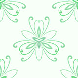 Floral Fine Seamless Vector Pattern. Floral vector colored ornament. Seamless abstract classic fine green pattern Royalty Free Stock Image