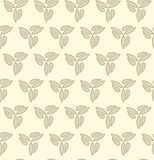 Floral Fine Seamless Vector Pattern. Golden vector ornament. Seamless abstract classic fine pattern Stock Image