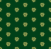 Floral Fine Seamless Vector Pattern. Floral vector green and golden ornament. Seamless abstract background with fine pattern for design and decorate Royalty Free Stock Image